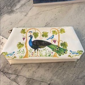 Peacock cosmetic bag